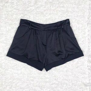 DVF Dax Black Silk Shorts
